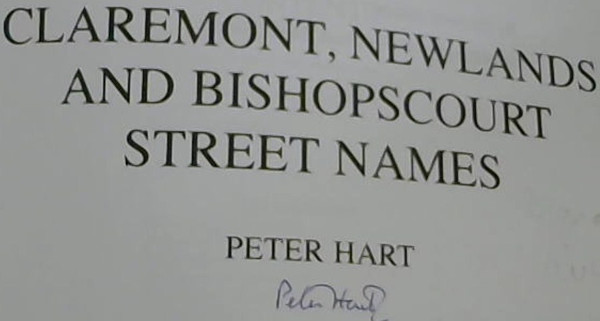 Image for Claremont, Newlands and Bishopscourt Street Names