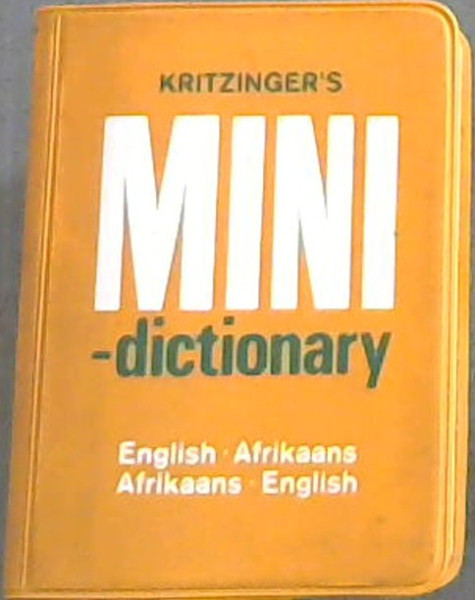 Image for Kritzinger's Mini-Dictionary: English-Afrikaans Afrikaans-English (1976)