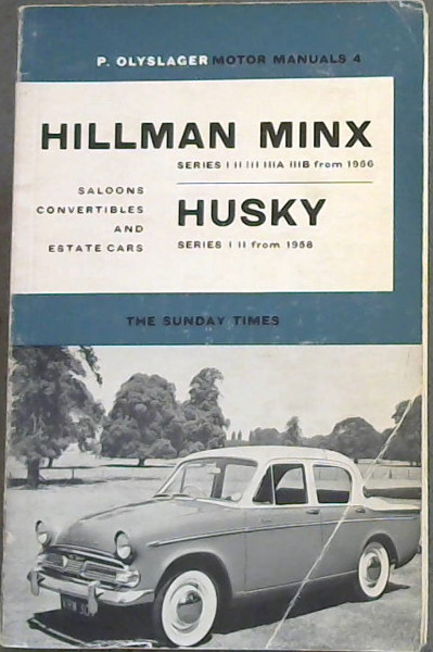 Image for Hillman Minx Series 1,2,3,3a,3b from 1956 & Hillman Husky, series 1, 2 from 1958