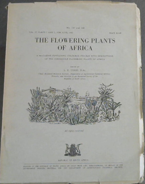 Image for The Flowering Plants of Africa: A magazine containing coloured figures with descriptions of the indigenous flowering plants of Africa (Volume 37, parts 1 and 2, 1965