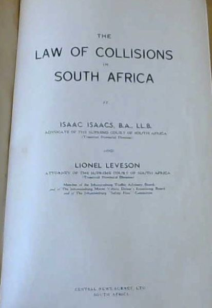 Image for The Laws of Collisions in South Africa