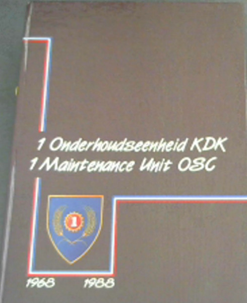 Image for 1 Onderhoudseenheid KDK/ 1 Maintenance Unit OSC 1969-1988 (Afrikaans/ English)