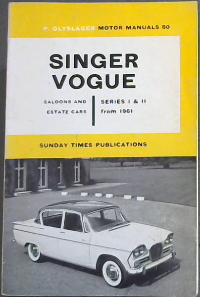 Image for Singer Vogue : Saloons and Estate Cars Series 1 & 2 from 1961
