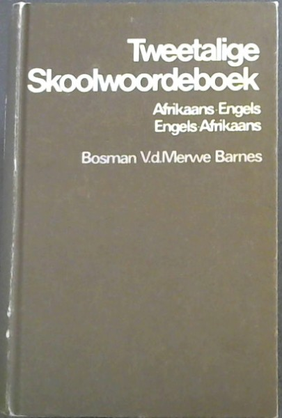 Image for Afrikaans-English, English-Afrikaans Two Language School Dictionary