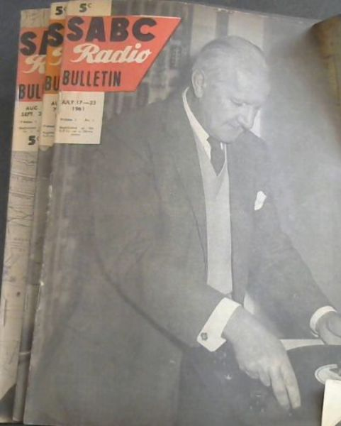 Image for SABC Radio Bulletin - 5 issues 1961