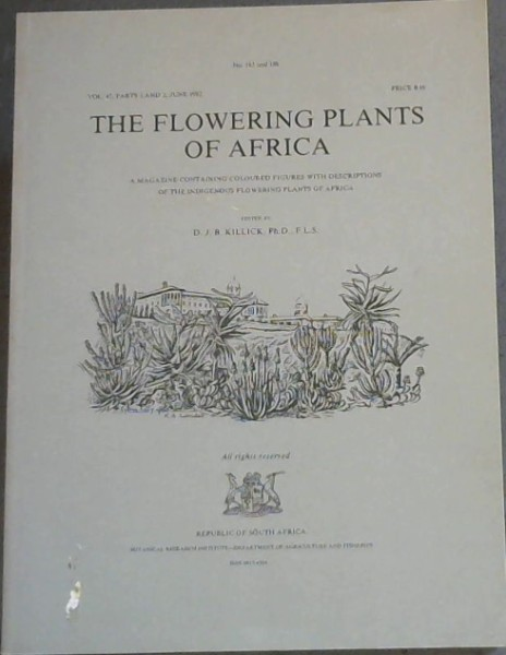 Image for The Flowering Plants of Africa (Number 185  and 186) - (Volume 47 Parts 1 and 2, June 1982) A magazine containing coloured figures with descriptions of the indigenous flowering plants of Africa