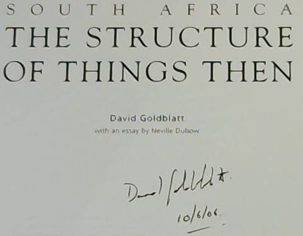 Image for South Africa: The Structure of Things Then