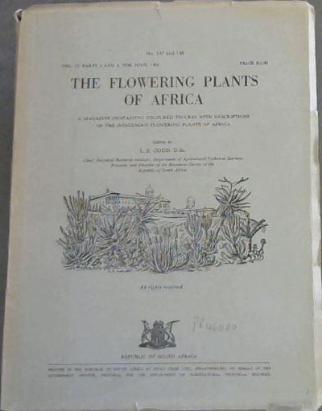 Image for The Flowering Plants of Africa. No. 147 & 148, Vol. 37 parts 3 & 4, for June 1966