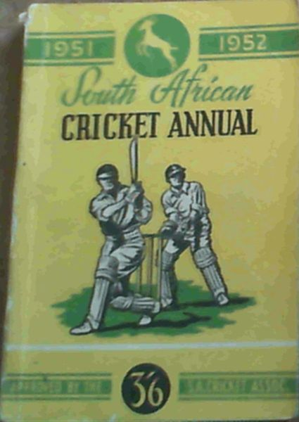 Image for South African Cricket Annual 1951 - 52