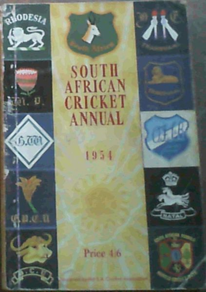 Image for South African Cricket Annual 1954