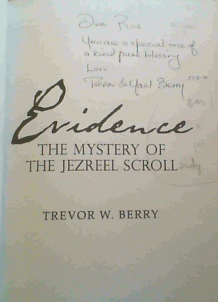 Image for Evidence The Mystery of the Jezreel Scroll