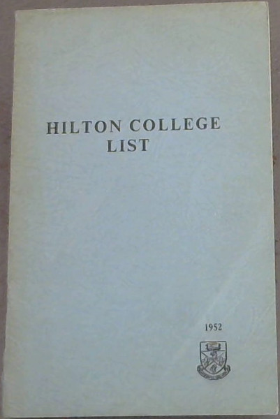 Image for Hilton College List 1952
