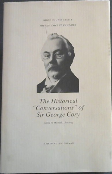 "Image for The Historical ""Conversations"" of Sir George Cory (The Graham's Town series)"