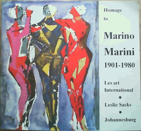 Image for Homage to Marino Marini 1901 - 1980