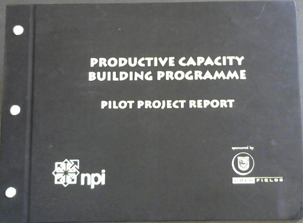 Image for Productive Capacity Building Programme : Pilot Project Report