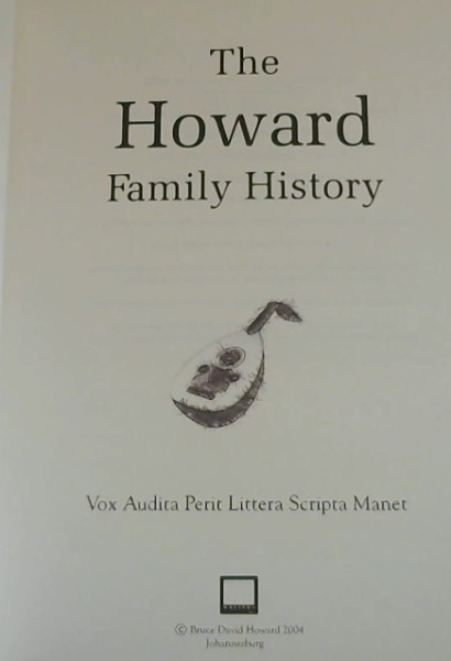 Image for The Howard Family History