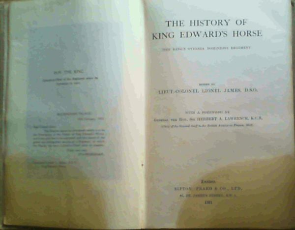Image for The History of King Edward's Horse (The King's Oversea Dominions Regiment)