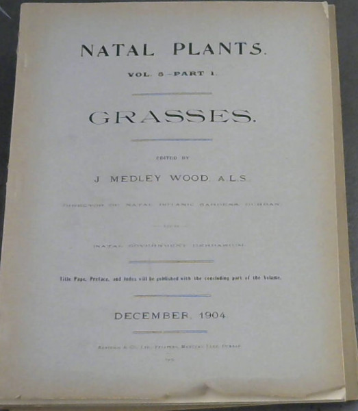 Image for Natal Plants : Vol 5 - Parts 1-4 : Grasses