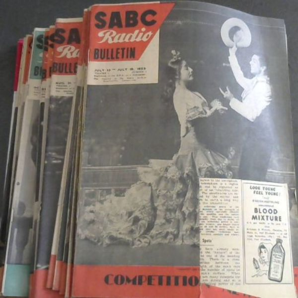 Image for SABC Radio Bulletin - 22 issues: Vol 5 No 3 - July 13-July 19, 1959 -- Vol 5, No 26 - Christmas Issue - Dec 21-Dec 27 1959