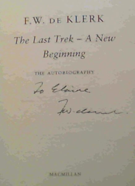 Image for The Last Trek--a New Begining: The Autobiography