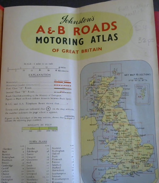 Image for Johnston's A &- B Roads Motoring Atlas of Great Britain