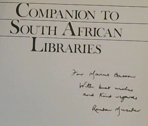 Image for Companion to South African Libraries