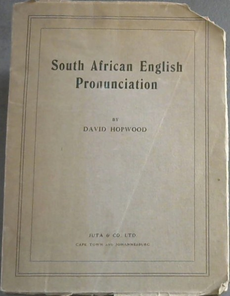 Image for South African English Pronunciation