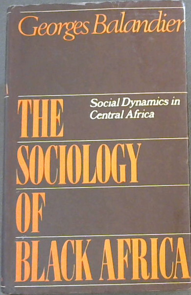 Image for The Sociology of Black Africa