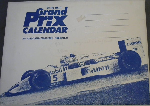 Image for Grand Prix Racing - Great Moments: 1989 Calendar