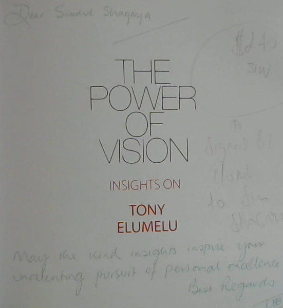 Image for The Power of Vision : Insights on Tony Elumelu