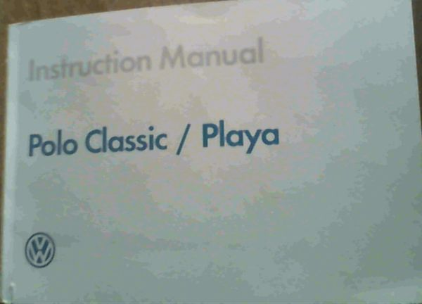 Image for Polo Classic / Playa Instruction Manual/ Instruksiehandleiding