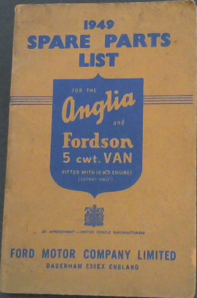 Image for 1949 Spare Parts List for the Fordson 5cwt. Van