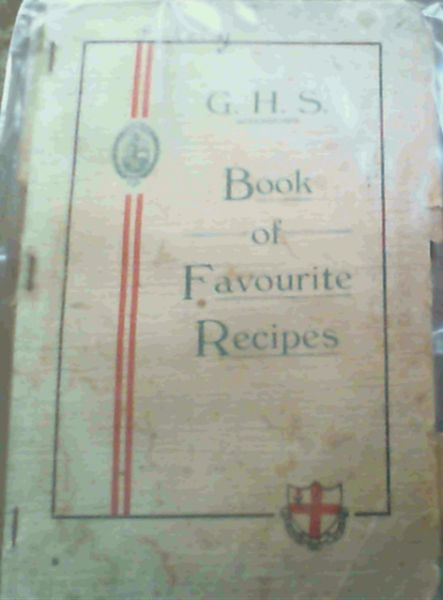 Image for G. H. S. Queenstown Book of Favourite Recipes