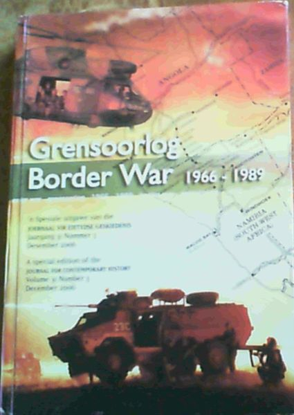 Image for Border War / Grensoorlog 1966-1989 : a special edition of the journal for contemporary history volume 31 number 3. december 2006
