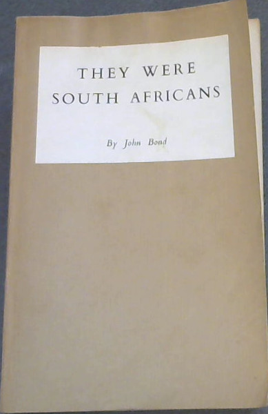 Image for They Were South Africans