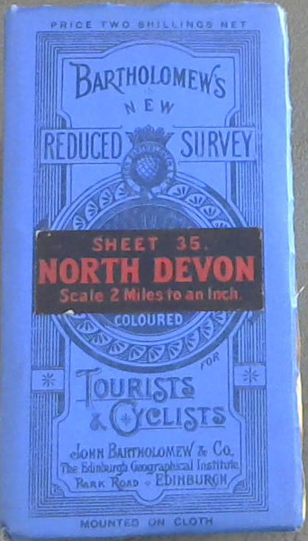 Image for Bartholomew's New Reduced Survey : Sheet 35 North Devon - Scale 2 miles to an Inch - for Tourists and Cyclists