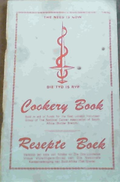 Image for Cookery Book; Resepte Boek