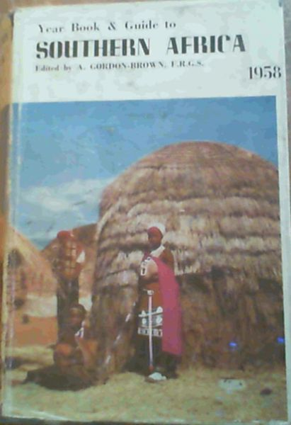 Image for Year Book & Guide To Southern Africa 1958