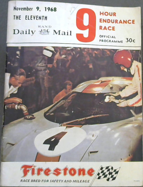 Image for Eleventh Rand Daily Mail 9 Hour Endurance Race - November 9, 1968 - Official Programme
