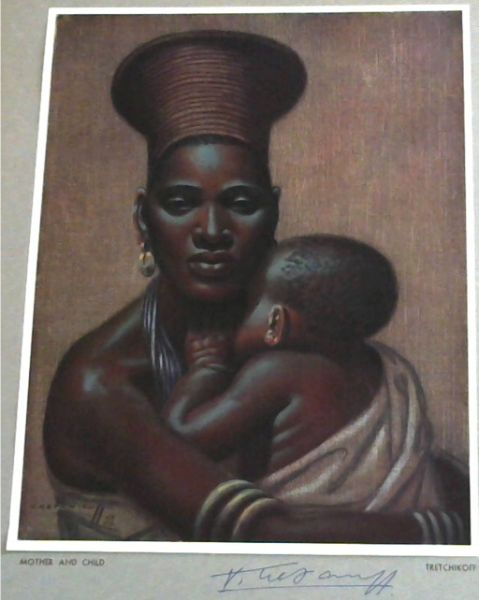 Image for Tretchikoff Print - Signed: Mother and Child
