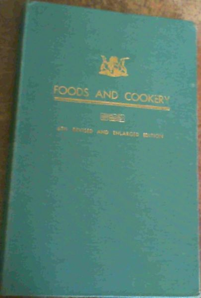 Image for Foods and Cookery (The Housewife's Guide)