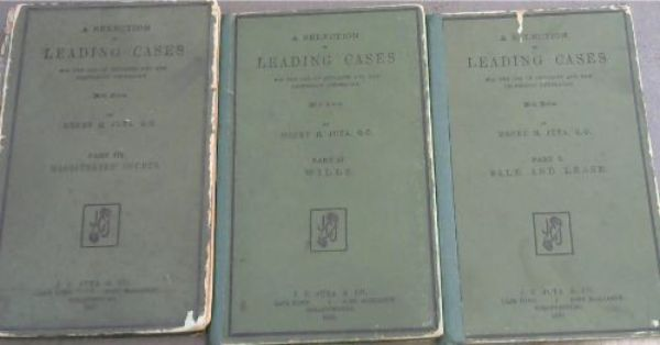 Image for A Selection of Leading Cases for the use of students and the profession generally - With Notes - 3 volumes