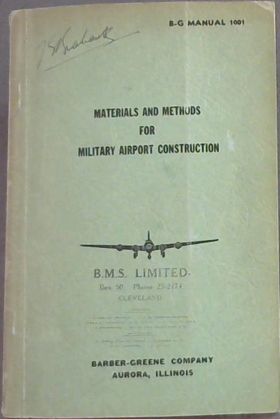 Image for Materials  &  Methods  For  Military  Airport  Construction