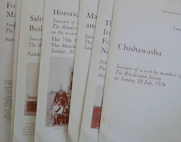 Image for Mashonaland Branch of the Rhodesiana Society - 7 Brochures