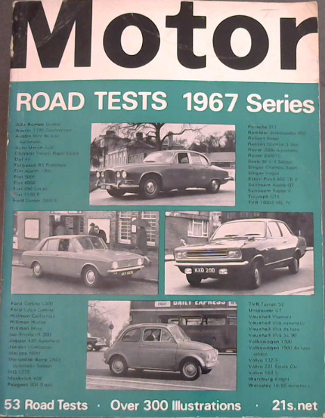 Image for Motor Road Tests 1967 Series