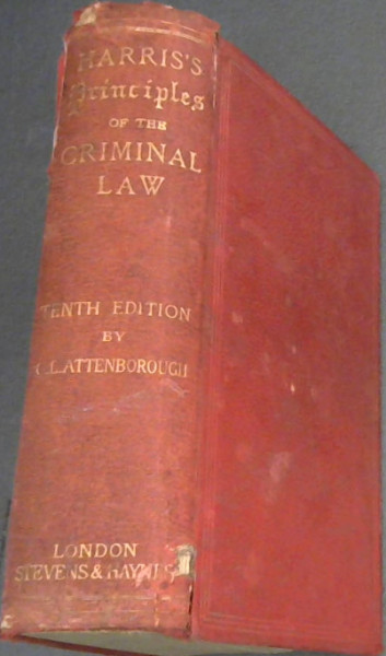 Image for Harris's Principles of the Criminal Law (Tenth Edition)