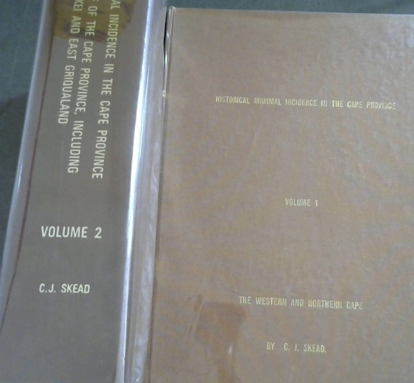 Image for Historical Mammal Incidence in the Cape Province - 2 Volumes