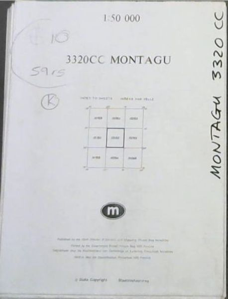 Image for Topographical Map, South Africa: Montagu - 3320CC - 1: 50 000