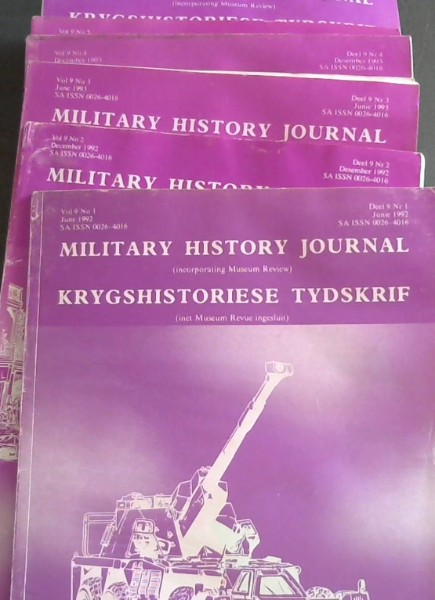 Image for Military History Journal (incorporating Museum Review) / Krygshistoriese Tydskrif (met Museum REvue ingesluit): Vol 9 - Nos 1-6 (June 1992-December 1994/ Junie 1992-Desember 1994)