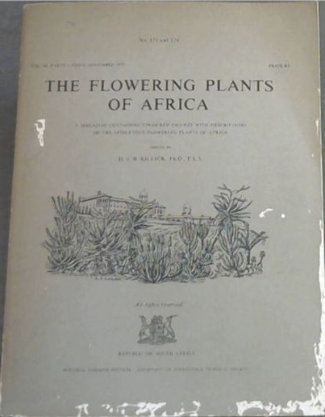 Image for The Flowering Plants of Africa : a magazine containing coloured figures with descriptions of the indigenous flowering plants of Africa. No. 175 & 176. Vol. 44, parts 3 & 4, Nov. 1977